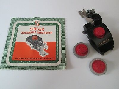Singer Vintage Automatic ZigZagger for electric sewing machine with Instructions
