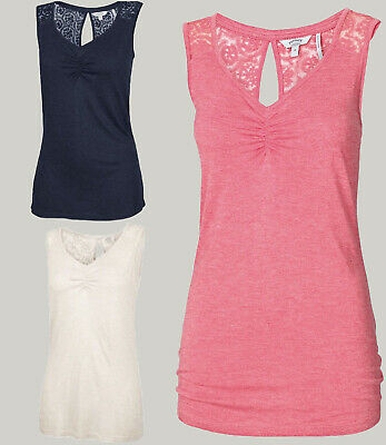 NEW RRP £45 Fat Face Vivienne Lace 2 In 1 Top Navy//Ivory 225