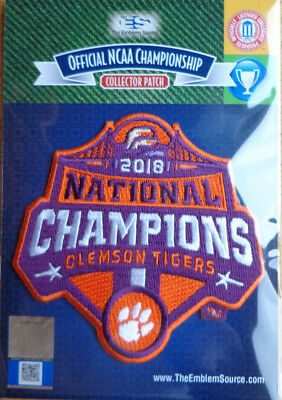 2018 College Football National Champions Patch Clemson Tigers Official Licensed