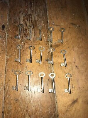 Vintage Keys Blanks Set Of 15