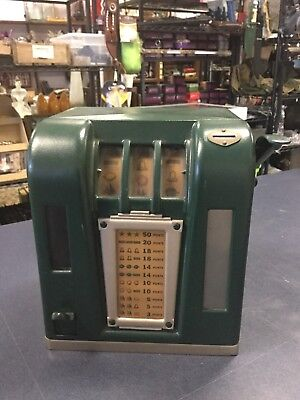 Adorable Green 1940'S VINTAGE 1 CENT penny SLOT MACHINE Zephyr Trade Stimulus