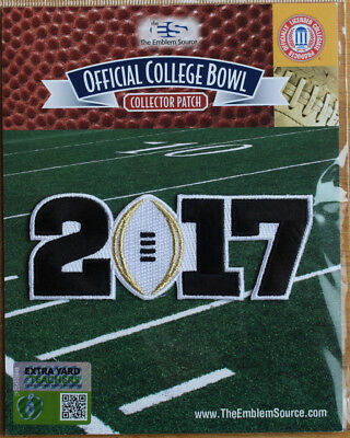 2017 College Football Playoff National Championship Patch White Football Clemson