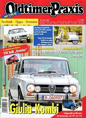 "OP0704 + VESPA 150 T4 ""Wespe"" + PUCH 250 TF + Oldtimer Praxis 4/2007"