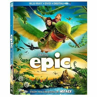 EPIC (Blu-ray/DVD, 2013, 2-Disc Set) New / Factory Sealed / Free Shipping