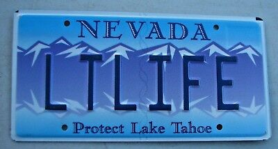 "Lake Tahoe Nevada Vanity Auto License Plate "" Lt Life "" Late In Life"