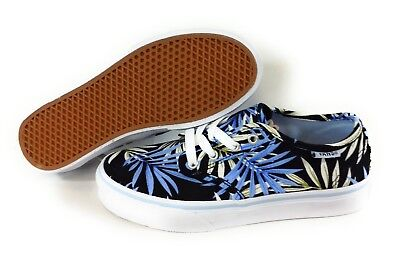 NEW Girls Youth Kids VANS Camden Stripe Black Blue White Floral Sneakers Shoes