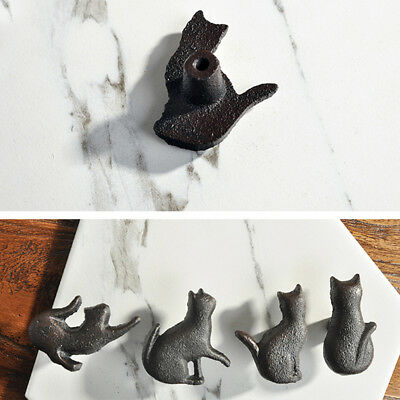 Vintage Style Cat Cabinet Furniture Door Knobs Cupboard Door Pulls Handle LD