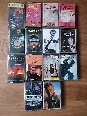Lot de 14 Cassettes audio  JOHNNY HALLYDAY   K7