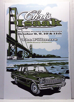 Chris Isaak @ Fillmore Sf #973/2008 Never Rolled/Concert Posters/All 4 Shows
