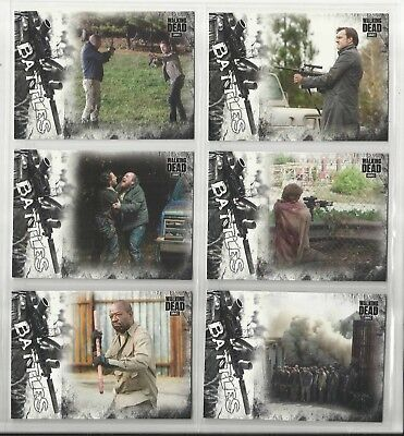 2018 Walking Dead Hunters/Hunted COMPLETE SET of 11 BATTLES Chase Cards EB1-EB11