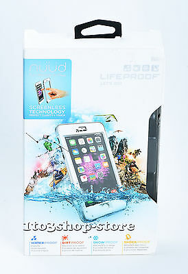 LifeProof NUUD Waterproof Hard Shell Case for iPhone 6 Plus ONLY White/Gray USED