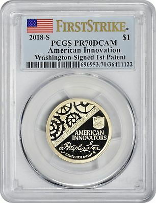 2018-S American Innovation Dollar PR70DCAM PCGS First Strike Washington Patent