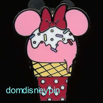 Disney Pin Parks *Sweet Treats* 4 Pin Set - Minnie Mouse Ice Cream Cone (Only)!