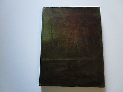 Antique Early 19Th Century 1817 Painting Rare Early American  Landscape Signed