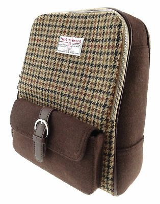 New Classic Womens Ladies Harris Tweed Bag Two Tone Backpack in 3 Colours