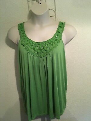 Lane Bryant Womens Plus Size 18/20 Enbellished Green Top