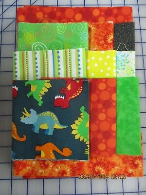 Awesome Dinosaurs Disappearing 9 Patch Baby Boy Quilt Complete Kit