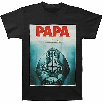 Authentic GHOST Band Papa Emeritus II Jaws Logo T-Shirt S-2XL NEW