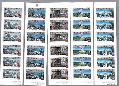 pk40890:Stamps-Canada Lot of 5 Tourist Attractions Booklet Panes - MNH