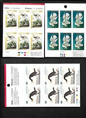 pk40888:Stamps-Canada Lot of 3 Audubon Birds Booklet Panes - MNH