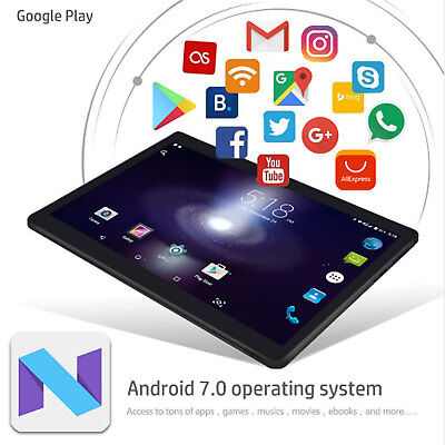 """10.1"""" Tablet PC Android 6.0 Octa Core 4+64GB Dual Camera OTG WIFI Bluetooth 2019"""