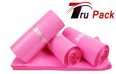 100 LARGE PINK BAGS OF 12x16 INCH STRONG POLY MAILING POSTAGE 60MU SELF SEAL XL