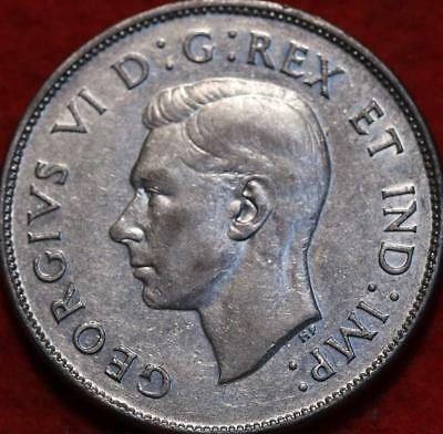 1945 Canada 50 Cents Silver Foreign Coin