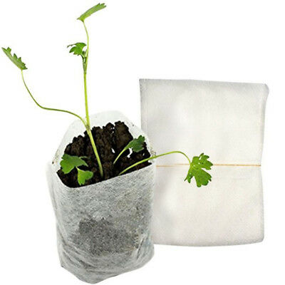 100pcs Plant Grow Bag Pot Non-woven fabric Pouch Nursery Seed Raising Bag Garden