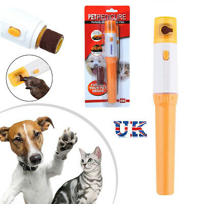 Dog/Cat Electric Nail Grooming Grinder Safe Trimmer Clipper Nail File Pet Claw