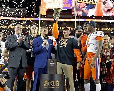 CLEMSON TIGERS - 2019 NATIONAL CHAMPIONS, 8x10 Color Photo