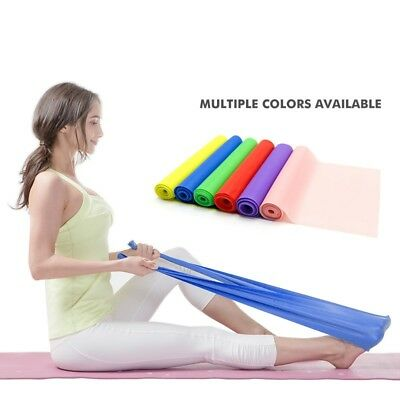 Pilates Elastic Band Fitness Resistance Yoga Stretching Belt Pull Up Gym Body