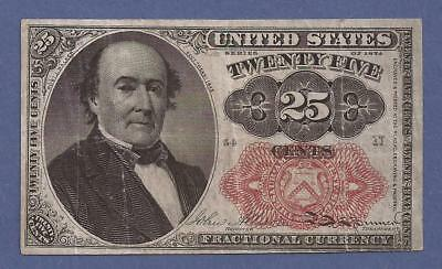 1874-1876 5th Issue 25¢ Fractional Currency,FR 1309,Walker,Circulated VF,Nice!