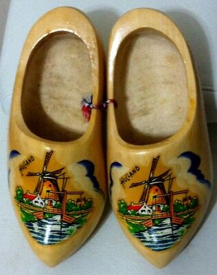 Condition Is Very Good Vintage Holland Decorated Wood Shoes