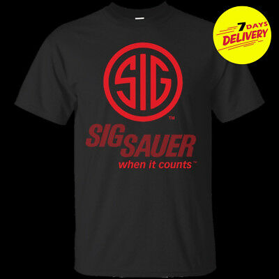 Sig Sauer Shirt Mens Gun Rights T Shirt Firearms Weapon Pro Gun 2nd Amendment