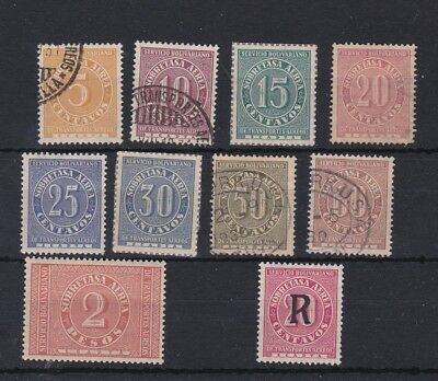 COLOMBIA (JA548) SG 71-80 & 83 1929 set to 2p - Mixed mint/fine used