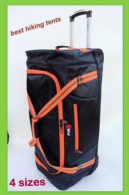 NEW  Fib Wheeled Duffle Bag Wheel Luggage Overnight Tote Travel Trolley Rolling