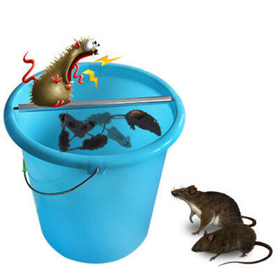 Stainless Steel Mice Mouse Rats Trap Log Roll Bucket Rolling Stick Rodent Spin