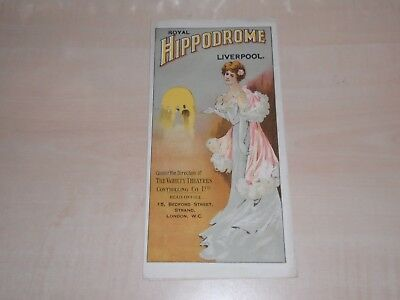 1919 Liverpool Hippodrome Theatre Fold Out Programme Too Many Girls+Local Advert