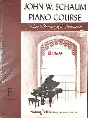 John W. Schaum Piano Course Leading to Mastery of the Instrument F the Brown Boo