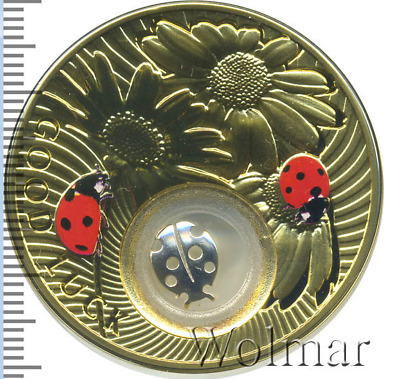 """Silver coin Ladybird of the """"Lucky Coins"""" series 2013 NIUE 2 New Zealand dollars"""