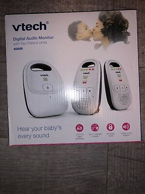 VTech DM112-2 Audio Baby Monitor with up to 1000 ft of Range 5-Level Sound In...
