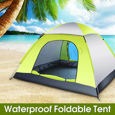 3-4 Person Faltbare Pop Up Zelt Outdoor Reisen Wandern Wasserdichte Camping