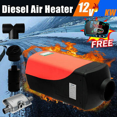 12V 2KW diesel Air Heater LCD Monitor For Car Truck Bus Motorhome With