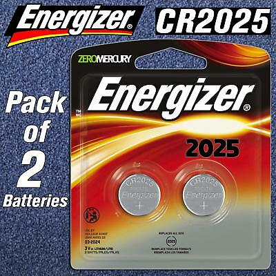 2 X Energizer CR2025 BR DL 2025 3V Lithium Coin Cell Battery Button LONGEST EXP