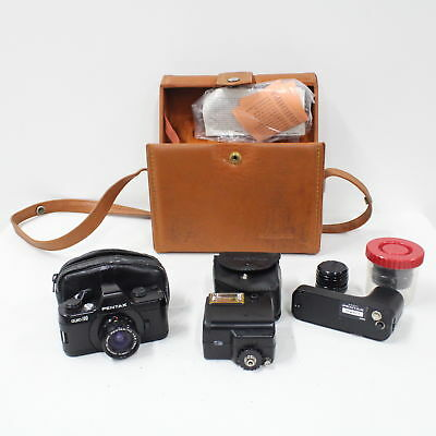 Asahi Pentax Auto-110 SLR System Camera With 3 Interchangeable Lenses #410