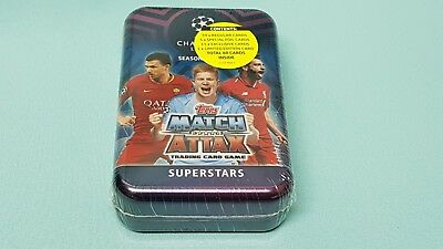 Topps Match Attax Champions League 2018/2019 Tin Box mit 15 Superstars Karten