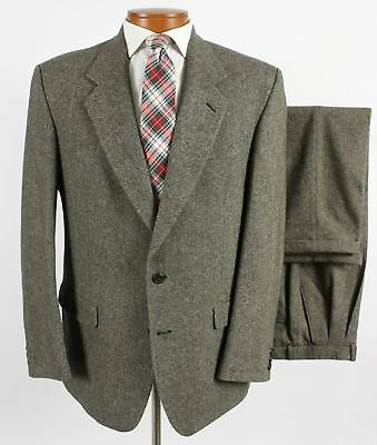 946cd5d889c Alexandre Savile Row 42R Mens Gray Fleck Donegal Tweed Suit 36 x 30 Pants  214