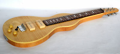 B Stock Lap Steel Guitar New Weissenborn Shape In Natural Finish Right Hand Only