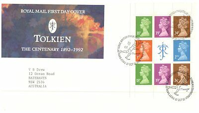 (UK FDC4) UK special FDC cover - Tolkien Centenary - 1992 (1 cover)