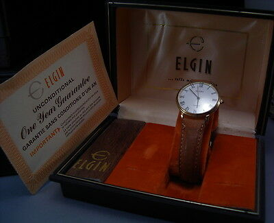 Vintage Mans Sharp Elgin With Box And Papers - Looks/runs Super - Priced Right!!
